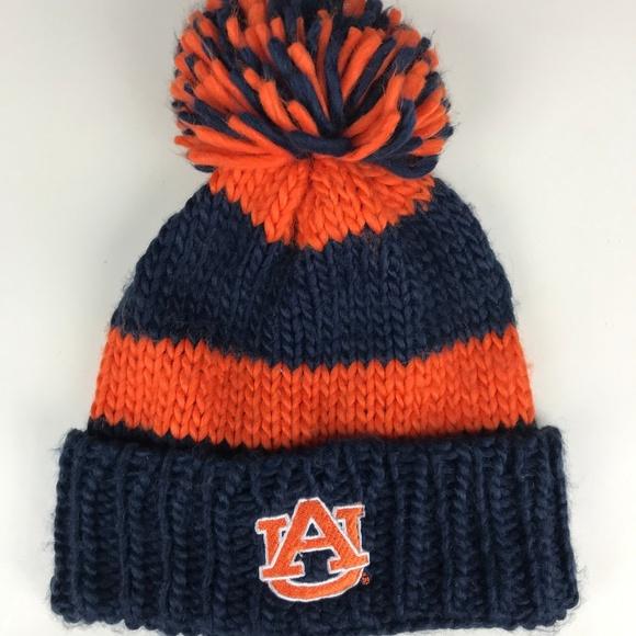 ec51bdf4ba14b4 Forever 21 Accessories | Auburn University Knitted Pom Beanie F21 ...